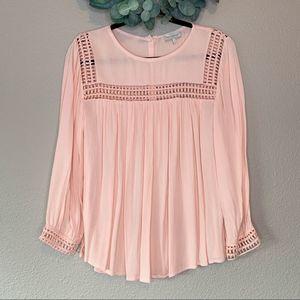 Lucky Brand Crochet Button Back Boho Swing Blouse